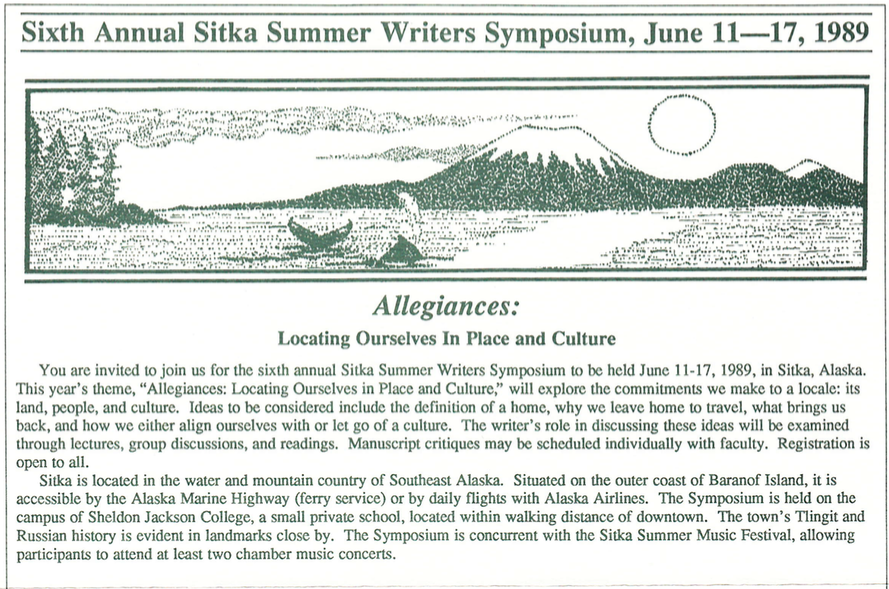 Sixth Annual Sitka Symposium